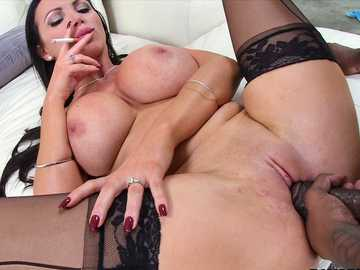 Busty Nikki Benz gets banged by a well hung black dude