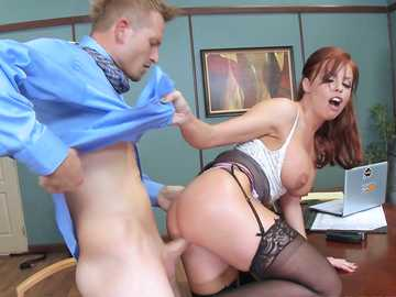Big ass boss Britney Amber having a nice office fuck in ass right on the desk
