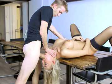 Kayla Green gets her mouth totally destroyed by Doctor D's monstrous dick