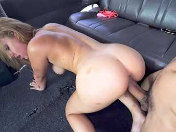 18 year old bubble butt girl Marilyn Mansion gets fucked doggy style by one of the fuck bus members