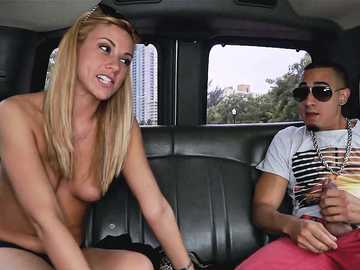 Cute Blondie Coco Blue Gets Tricked on the Bus