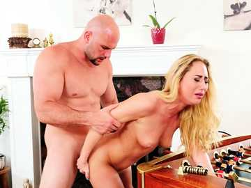 Carter Cruise bends under pressure of JMac's cock in pussy fucking video