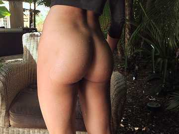 The stunning brunette Rahyndee James shows her goodies outdoor in a softcore style